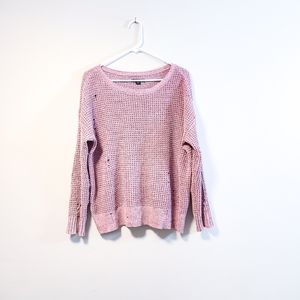 AMERICAN EAGLE Lilac Chenille Destroyed Sweater M
